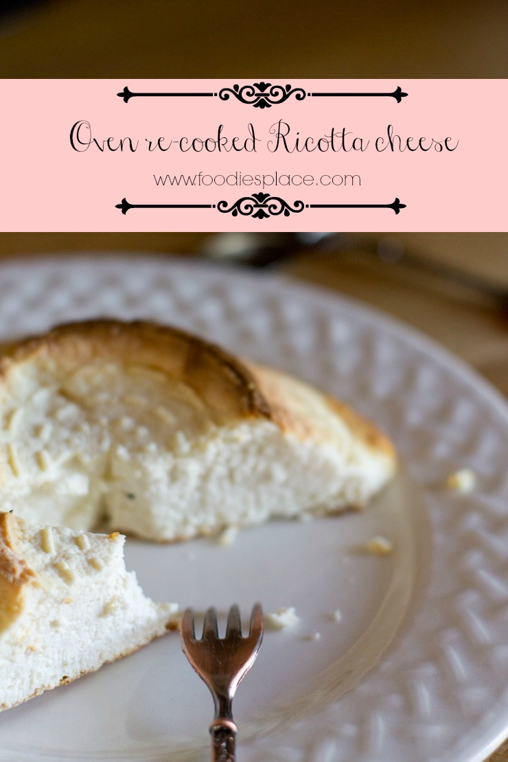 oven recooked ricotta cheese P